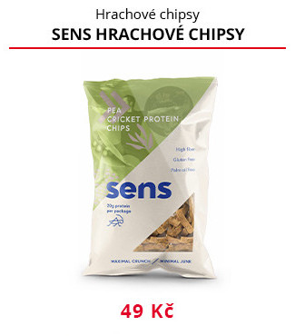 Hrachové chipsy Sens