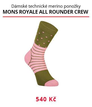 Ponožky Mons Royale All Rounder Crew