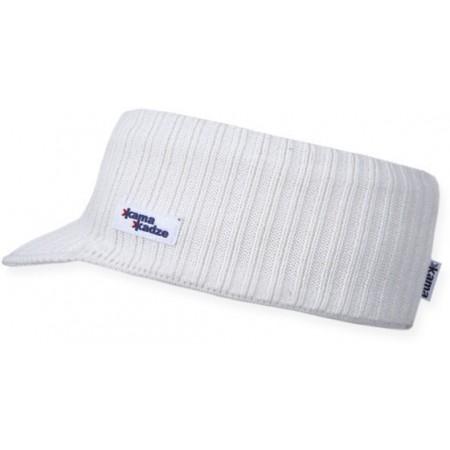 Čelenka - Pletená čelenka s kšiltem - Kama Čelenka - 1