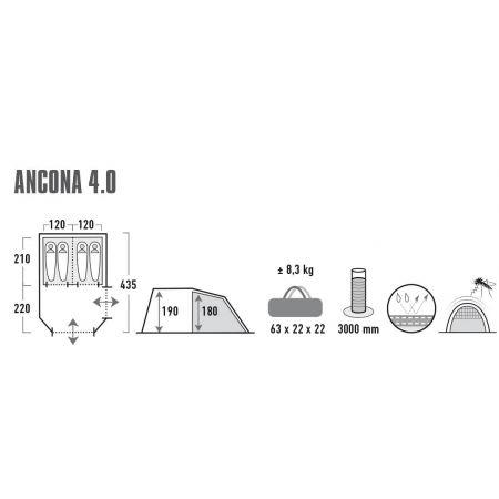 Rodinný stan - High Peak ANCONA 4.0 - 7