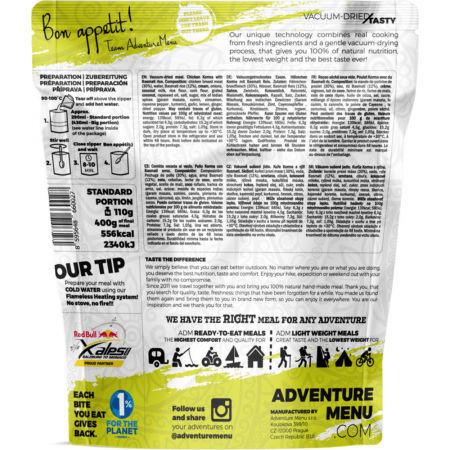 Outdoorová strava - ADVENTURE MENU KUŘE KORMA S RÝŽÍ BASMATI - 2