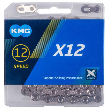 KMC X-12 STŘÍBRNÝ BOX - Řetěz na kolo