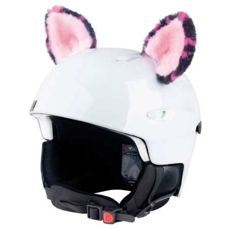 Uši na helmu - Crazy Ears KOČKA RŮŽOVÁ