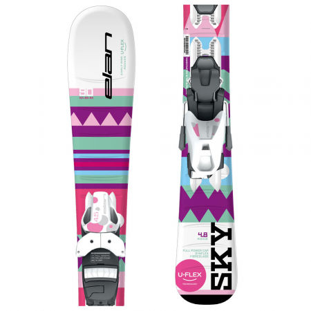 Dívčí sjezdové lyže - Elan SKY QS + EL 7.5 - 1