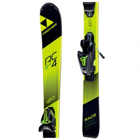 Juniorské sjezdové lyže - Fischer RC4 RACE JR. + FJ4 SLR - 1