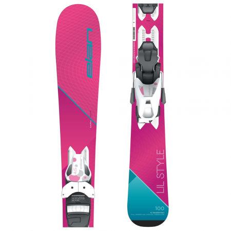 Dívčí sjezdové lyže - Elan LIL STYLE QS + EL 4.5 - 1