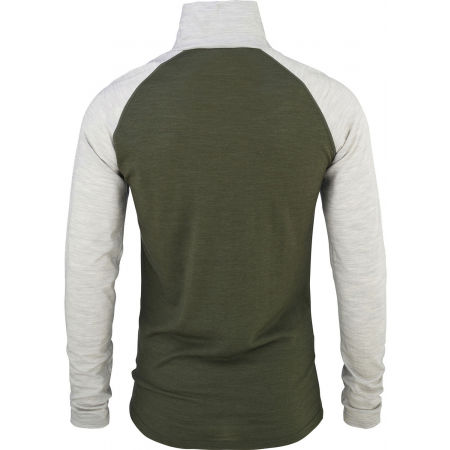 Pánské triko s dlouhým rukávem - Bula RETRO WOOL HZ - 2