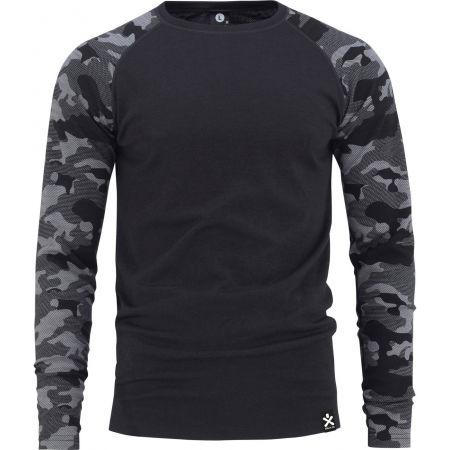 Bula CAMO MERINO WOOL CREW - Pánské triko