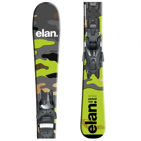 Elan PINBALL CAMO QS + EL 4.5 GRN - Juniorské sjezdové lyže