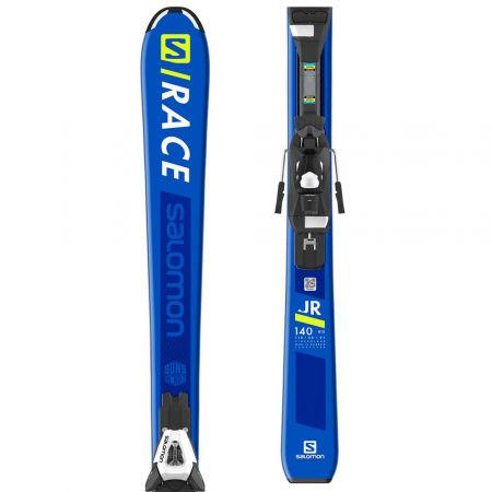 Juniorské sjezdové lyže - Salomon S/RACE JR M + C5EASY - 1