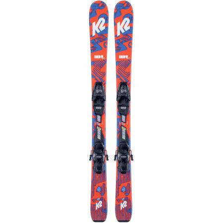 Dětské allmountain lyže s vázáním - K2 INDY FDT 4.5 - 2