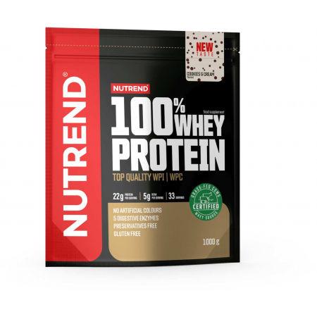Protein - Nutrend 100% WHEY PROTEIN 1000 g COOKIES-CREAM