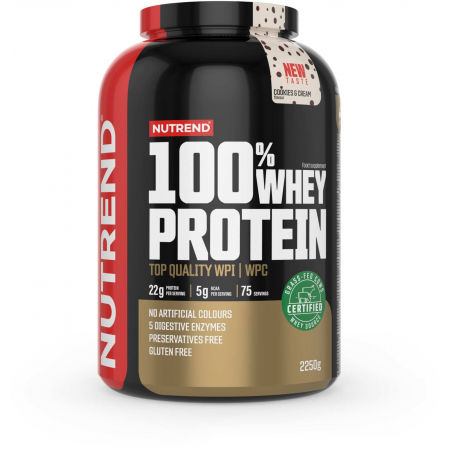Nutrend 100% WHEY PROTEIN 2250 g COOKIES-CREAM