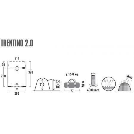 Přístřešek k autu - High Peak TRENTINO 2.0 - 15