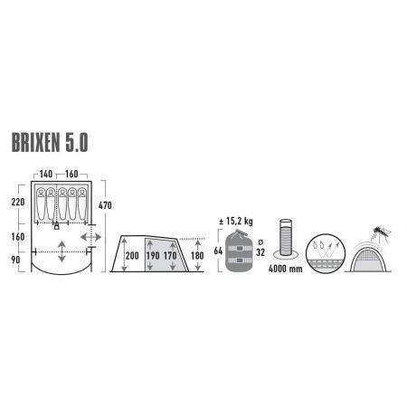 Rodinný stan - High Peak BRIXEN 5.0 - 9