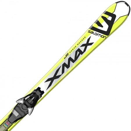 Juniorské sjezdové lyže - Salomon E X-MAX JR M + E EZY7 B80 - 1