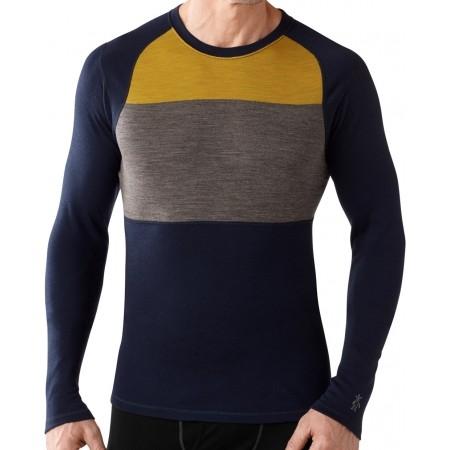 Pánské funkční tričko - Smartwool M NTS MID 250 COLOR BLOCK CREW - 2