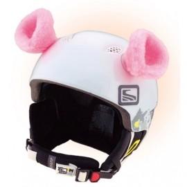 Crazy Ears RŮŽOVÁ - Uši na helmu