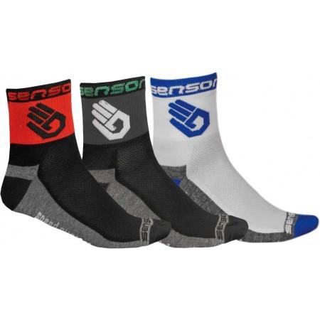 Sensor 3-PACK RUKA - Cyklistické ponožky