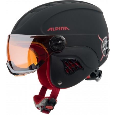 Juniorská lyžařská helma - Alpina Sports CARAT LE VISOR HM - 1