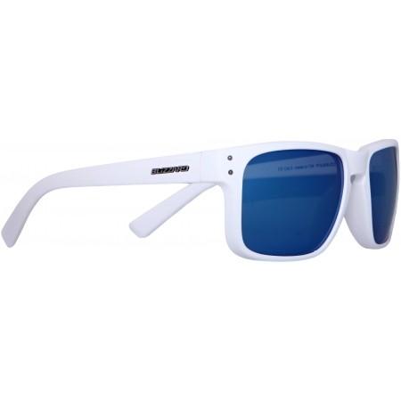 Polarizační sluneční brýle - Blizzard RUBBER WHITE GUN DECOR POINTS POL