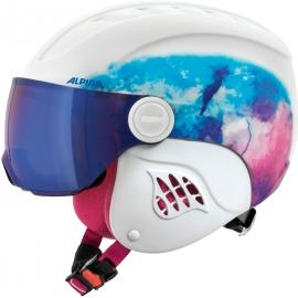 Alpina Sports CARAT LE VISOR HM PERIWINKLE - Dětská sjezdařská helma