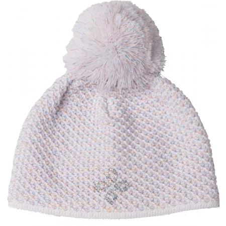 R-JET HOLČIČKY DUHOVÁ - Dětská holčičí hrubě pletená čepice