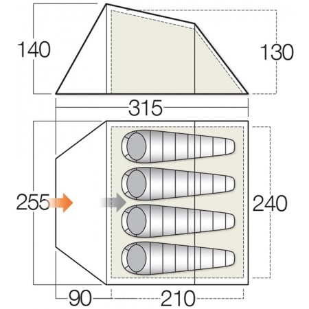 Outdoorový stan - Vango SPEY 400 - 2