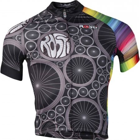 Pánský cyklistický dres - Rosti WHEELS DL ZIP - 1