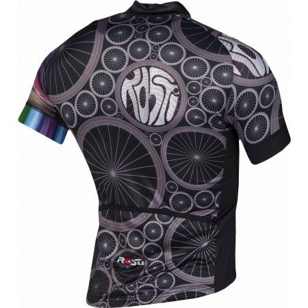 Pánský cyklistický dres - Rosti WHEELS DL ZIP - 3