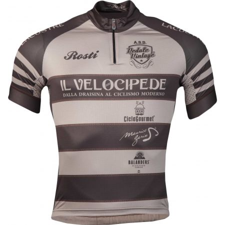 Pánský cyklistický dres - Rosti VELOCIPEDE KR ZIP - 1