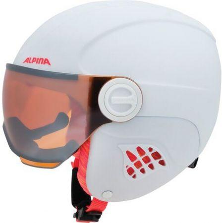 Juniorská lyžařská helma - Alpina Sports CARAT LE VISOR HM