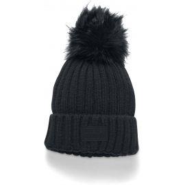 Under Armour SNOWCREST POM BEANIE - Dámská pletená čepice