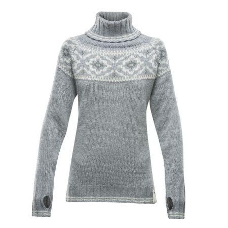 Dámský svetr - Devold ONA WOMAN ROUND SWEATER - 1