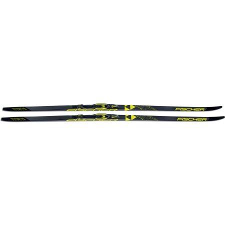 Běžecké lyže na klasiku s podporou stoupání - Fischer TWIN SKIN RACE MED/STIFF + RACE CLASSIC - 2