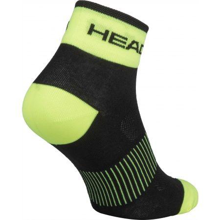 Cyklistické ponožky - Head SOCKS YELLOW - 2