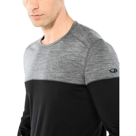 Funkční triko z merina s dlouhým rukávem - Icebreaker OASIS DELUXE LS CREWE - 4
