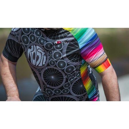 Pánský cyklistický dres - Rosti WHEELS DL ZIP - 5
