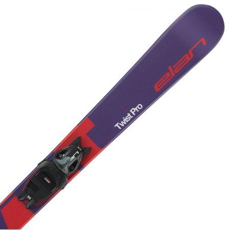 Juniorské sjezdové lyže - Elan TWIST PRO QS + EL 7.5 WB - 3