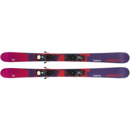 Juniorské sjezdové lyže - Elan TWIST PRO QS + EL 7.5 WB - 4