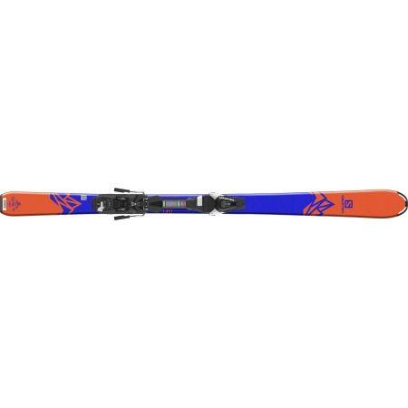 Juniorské sjezdové lyže - Salomon QST MAX JR M + L7 - 4