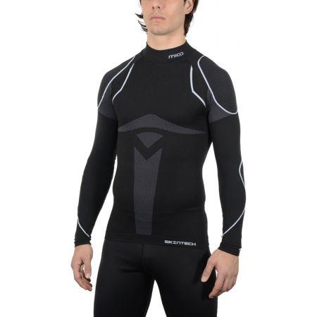 Pánské lyžařské spodní prádlo - Mico LONG SLEEVES MOCK NECK SHIRT WARM SKIN - 2