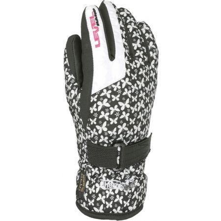 Dětské lyžařské rukavice - Level DARK JR - 1