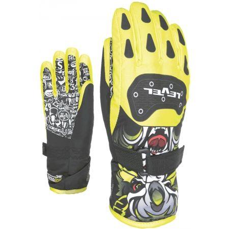 Dětské lyžařské rukavice - Level DARK JR - 2