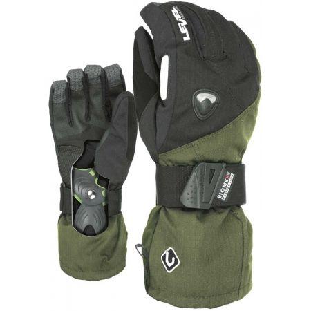 Pánské snowboardové rukavice - Level FLY CLAY - 2