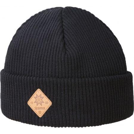 Pletená čepice - Kama A136-110 ČEPICE MERINO OHRNOVACÍ