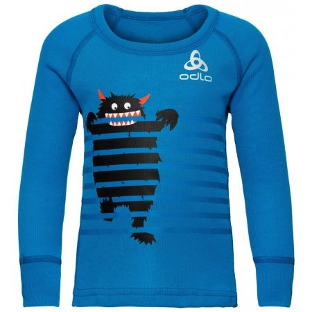 Odlo SUW KIDS TOP L/S CREW NECK ACTIVE WARM TREND SMALL - Dětské tričko