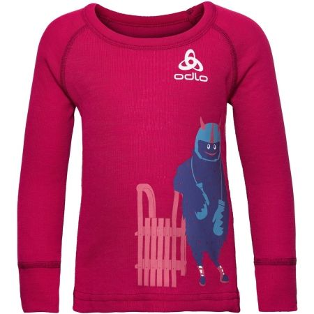 Odlo SUW KIDS TOP L/S CREW NECK ACTIVE WARM TREND SMALL