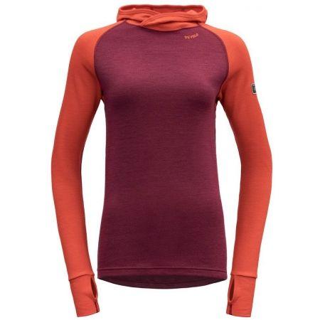 Devold EXPEDITION WOMAN HOODIE - Dámské vlněné triko s kapucí