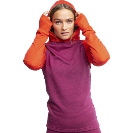 Dámské vlněné triko s kapucí - Devold EXPEDITION WOMAN HOODIE - 3